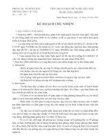 Kế hoạch chủ nhiệm 09-10