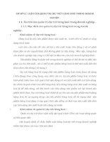 CƠ SỞ LÍ  LUẬN CỦA QUẢN TRỊ DỰ TRỮ HÀNG HOÁ TRONG DOANH NGHIỆP
