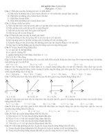 Kiểm tra chương I lí 10 cơ bản