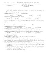Bộ đề số 2 kiểm tra học kỳ I Toán 9 (có ma trận+đáp án+đề cương)