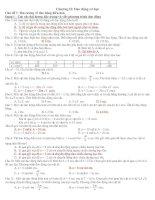 phân dạng bài tập dao động điều hoà