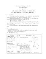 giáo án TD lớp 5 (từ bài 1 đến bài 5)