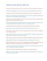 Những câu châm ngôn hay tiếng Anh!