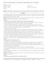 BÀI DỰ THI TÌM HIỂU LUẬT PHÒNG CHỐNG BẠO LỰC GIA ĐINH (10/2010)