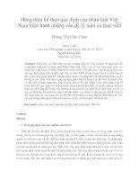 Hàng thừa kế theo quy định của pháp luật Việt  Nam hiện hành những vấn đề lý luận và thực tiễn