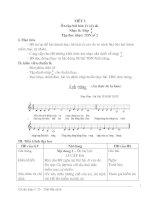 GIÁO ÁN ÂM NHẠC LỚP 7: TIẾT 5: Nhạc lí: Nhịp 4/4 Ôn tập: Lí cây đa