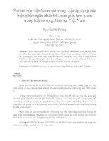Vai trò của viện kiểm sát trong việc áp dụng các  biện pháp ngăn chặn bắt, tạm giữ, tạm giam  trong luật tố tụng hình sự Việt Nam Nguyễn Bá Phùng