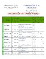 Bảng phân công chuyên môn 2010-2011