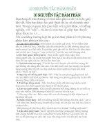 10 NGUYÊN TẮC GIÚP BẠN ĐÀM PHÁN THÀNH CÔNG
