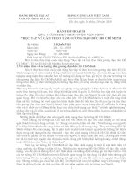Bài thu hoạch qua 4 năm thực hiện tư tưởng đạo đức Hồ Chí Minh