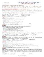 Bài giải chi tiết đề thi đại học môn Hóa khối A,B-2009