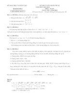 một sã đề thi môn toán tuyển sinh vào 10 năm học 2010-2011 có đáp án
