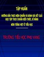BD dạy hoc theo chuan kien thuc ki nang mon Tieng Viet