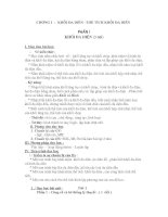 Chuyên đề tự chọn  lớp 12- CĐ 1
