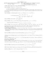 ĐỀ THI THỬ ĐẠI HỌC LẦN 1 NĂM HỌC: 20122013 Tổ: Toán – Tin học MÔN: TOÁN (Khối A+A1+B+D)