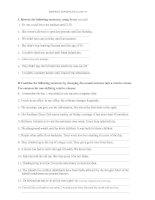 REWRITE SENTENES CLASS 10