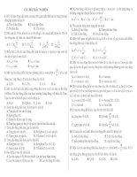 90 câu trắc nghiệm Phần Dao động cơ và sóng