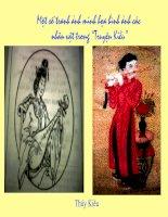 Tranh ảnh về Truyện Kiều - Nguyễn Du