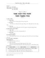 Tiết 14 - Thực hiện tính toán trên trang tính (t2)