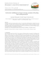 University buildings in Greece: Energy analysis of heating and cooling demand