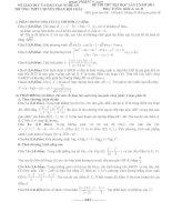 ĐỀ THI THỬ ĐẠI HỌC LẦN 2 NĂM 2013 Môn: TOÁN; Khối A, A1, B