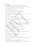 Ngân hàng câu hỏi TN 12