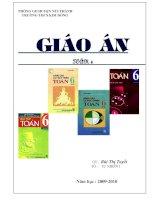 TRANG BÌA GIÁO ÁN TOÁN 6