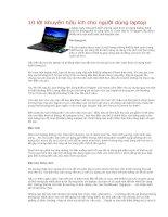 10 lời khuyên hữu ích cho người dùng laptop