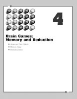 Brain Games Memory and Deduction