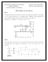 Đề thi sức bền vật liệu (TC)