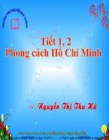 Tiết 1,2 Phong cách Hồ Chí Minh