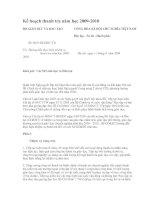 Kế hoạch thanh tra NH 2009-2010