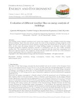 Evaluation of different weather files on energy analysis of buildings