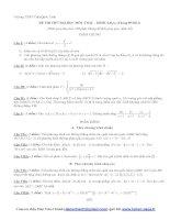 ĐỀ THI THỬ ĐẠI HỌC MÔN TOÁN - KHỐI A,B,A1 (Tháng 05/2013)