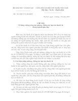 Chỉ thị 56/2007/CT-BGDĐT về tăng cường công tác phòng, chống tác hại của thuốc lá