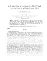 Luật hôn nhân và gia đình năm 2000-Thành  tựu, vướng mắc và hướng hoàn thiện