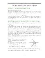 Chuyên đề : Các bài toán Cực trị Hình học 8