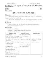 giáo án tin 6 hk1(ba cột)soạn đủ