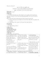 Giáo án sinh 9 chi tiết