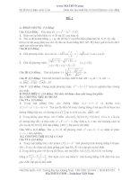 đáp án 40 đề thi thử môn toán