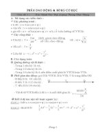 Các dạng bài tập phần dao động cơ và sóng