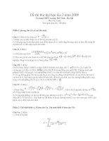 Đê thi thử đại học lần 2 năm 2009 môn toán trường THPT LƯƠNG THẾ VINH HÀ NỘI