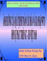 Ảnh hưởng của quá trình toàn cầu hóa và gia nhập WTO đến sự phát triển KT - XH VN