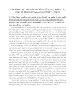 TÌNH HÌNH THỰC HIỆN CHI PHÍ SẢN XUẤT KINH DOANH    TẠI CÔNG TY TINH DẦU VÀ CÁC SẢN PHẨM TỰ NHIÊN
