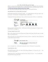 Các  chiêu  tìm kiếm hiệu quả trên Google