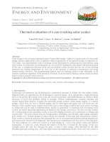Thermal evaluation of a sun tracking solar cooker