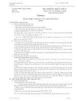 Hệ thống kiến thức chương 3 Vật lý 11 Nâng cao