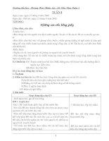 giáo án lớp 5 - Tuần 4 - Cực hot đê
