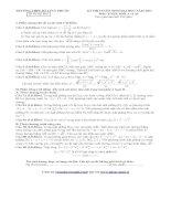 KÌ THI TUYỂN SINH ĐẠI HỌC NĂM 2013 Đề thi thử lần 1 Môn TOÁN; Khối A và A1 TRƯỜNG THPT SỐ 1 TUY PHƯỚC