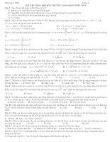 BÀI TẬP TỔNG HỢP SỐ 6 CHƯƠNG I DAO ĐỘNG ĐIỀU HÒA